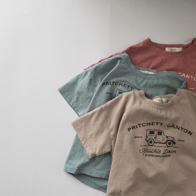 ドライブTee Hyvaa 夏 くるま 車 のりもの car 半袖Tシャツ 韓国 キッズ/ベビー/マタニティのキッズ服男の子用(90cm~)(Tシャツ/カットソー)の商品写真