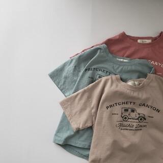 ドライブTee Hyvaa 夏 くるま 車 のりもの car 半袖Tシャツ 韓国