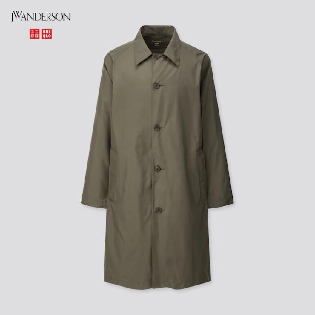 UNIQLO(ユニクロ)のポケッタブルステンカラーコート DARK GREEN メンズのジャケット/アウター(ステンカラーコート)の商品写真
