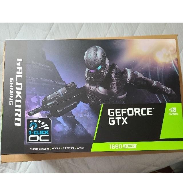 玄人志向 NVIDIA GEFORCE GTX 1660 Super  スマホ/家電/カメラのPC/タブレット(PCパーツ)の商品写真