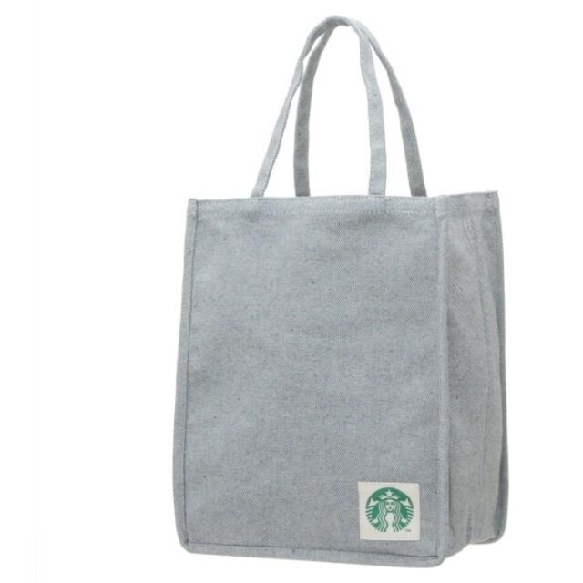 スタバ ショッパーバッグ デニムブルー レディースのバッグ(エコバッグ)の商品写真