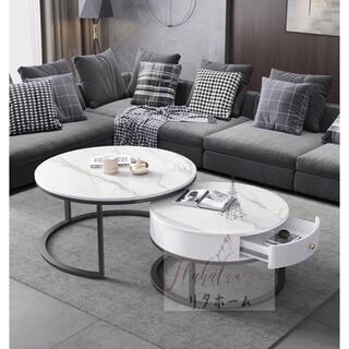 高級寝室用テーブル 大理石ローテーブル リビングテーブル センターテーブル(ローテーブル)
