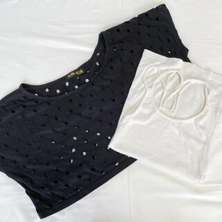 エルビーゼロスリー(LB-03)のLB-03 新品タグなし セット キャミソール 穴あきTシャツ(Tシャツ(半袖/袖なし))