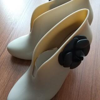 ショート レイン ブーツ 24cm 7cmヒールです。