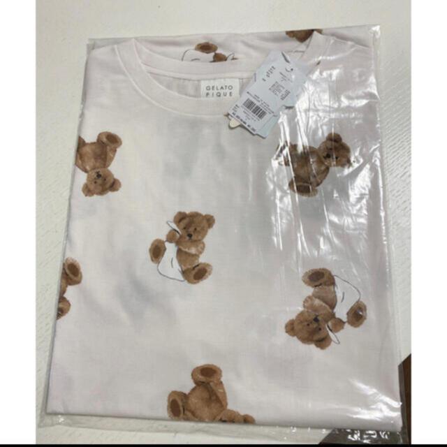 gelato pique(ジェラートピケ)のベアモチーフ抗菌防臭ドレス レディースのルームウェア/パジャマ(ルームウェア)の商品写真