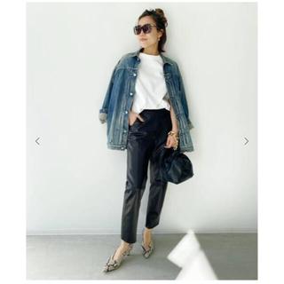 アパルトモンドゥーズィエムクラス(L'Appartement DEUXIEME CLASSE)のアパルトモン【RAW+/】Leather Cropped Pants  34(クロップドパンツ)