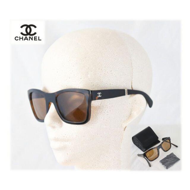 CHANEL(シャネル)の正規本物!新品【シャネル】折りたたみサングラス ココマーク ブラウン レディースのファッション小物(サングラス/メガネ)の商品写真
