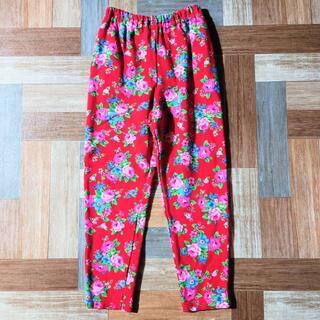 KENZO 花柄 スウェット パンツ レッド 130サイズ
