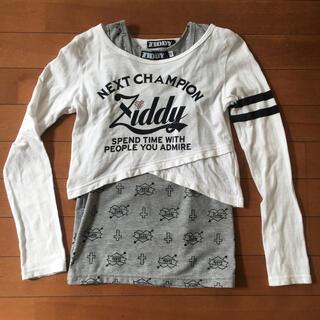 ジディー(ZIDDY)のZIDDY ロングTシャツ×タンクトップ重ね着セット 140(Tシャツ/カットソー)