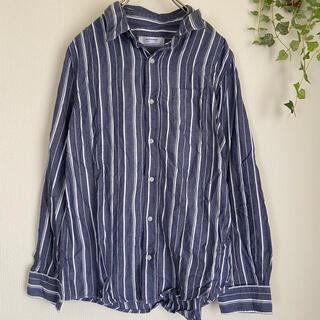 バックナンバー(BACK NUMBER)のbacknumber ストライプシャツ ゆったり シンプル 着回し カジュアル(シャツ/ブラウス(長袖/七分))