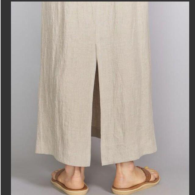 BEAUTY&YOUTH UNITED ARROWS(ビューティアンドユースユナイテッドアローズ)の美品 beauty&youth U.A 春夏 麻   ロング スカート レディースのスカート(ロングスカート)の商品写真