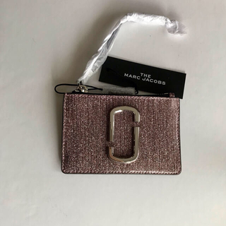 マークジェイコブス(MARC JACOBS)の新品 marc jacobs カードケース グリッター ピンク(コインケース)