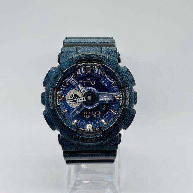 G-SHOCK(ジーショック)のCASIO G-SHOCK 腕時計  GA-110DC デニム柄 メンズの時計(腕時計(アナログ))の商品写真