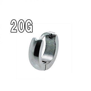 新品安価!小さい側面曲線の フープ ピアス シルバー 1個(ピアス)