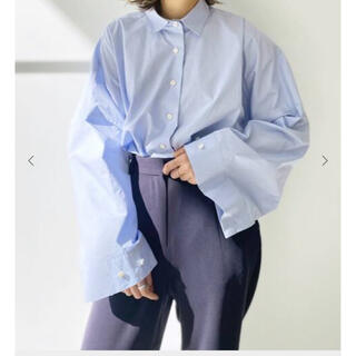 L'Appartement DEUXIEME CLASSE - L'Appartement GENTLEWOMAN SHIRT  ブルー 美品