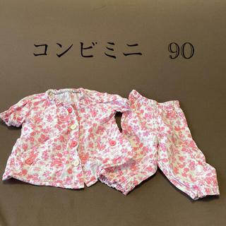 コンビミニ(Combi mini)のコンビミニ 花柄 パジャマ 90(パジャマ)