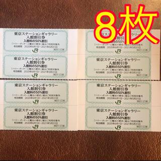 ジェイアール(JR)の在庫処分 8枚 東京ステーションギャラリー 半額 株主優待券(美術館/博物館)