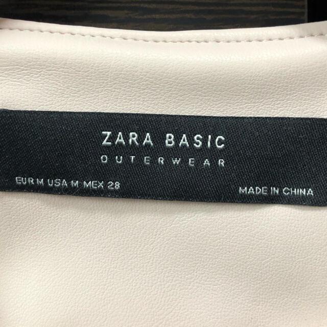 ZARA(ザラ)のZARA レザージャケット  レディースのジャケット/アウター(ノーカラージャケット)の商品写真