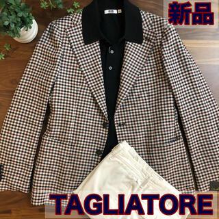 【新品/未使用】TAGLIATOREタリアトーレギンガムチェックジャケット50