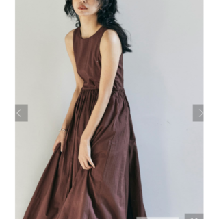 DEUXIEME CLASSE - 美品!MARIHA「夏のレディのドレス」ブラウン 38