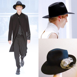 DIOR HOMME - Dior Homme 12SS ディオールオム フェドラハット ラビット100%