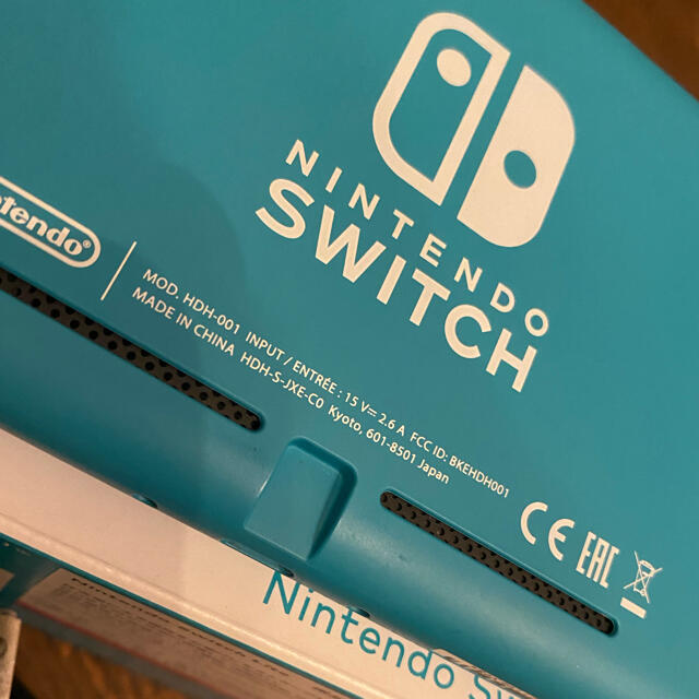 Nintendo Switch(ニンテンドースイッチ)の★にとさん専用 Nintendo Switch lite ターコイズ エンタメ/ホビーのゲームソフト/ゲーム機本体(家庭用ゲーム機本体)の商品写真