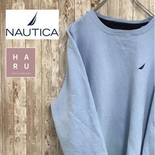 ノーティカ(NAUTICA)のノーティカ NAUTICA ワンポイントロゴトレーナー スウェット 水色(スウェット)