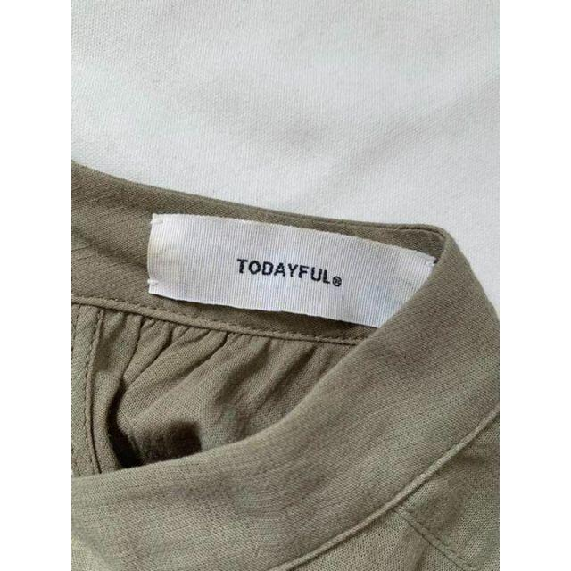 TODAYFUL(トゥデイフル)の2020SS TODAYFULトゥデイフル ガーゼ ギャザー ワンピース 38 レディースのワンピース(ロングワンピース/マキシワンピース)の商品写真