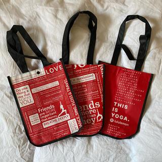 ルルレモン(lululemon)のルルレモン ショッパー 3枚セット(ショップ袋)