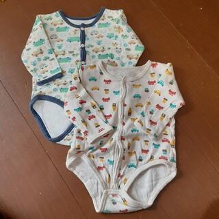 シマムラ(しまむら)のsize70長袖ベビー肌着 しまむらバースデイ 洗濯済み 送料無料(肌着/下着)