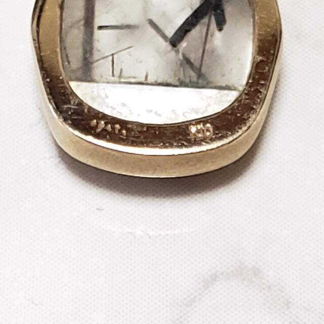 agete(アガット)のアガット★K10 ダイヤ ルチルクォーツ?ネックレスチャーム レディースのアクセサリー(チャーム)の商品写真