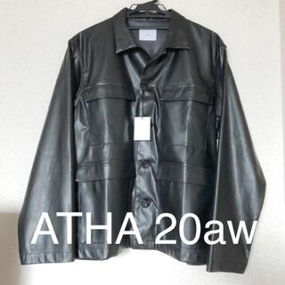 COMOLI - ATHA 20aw フェイクレザー フィールドジャケット