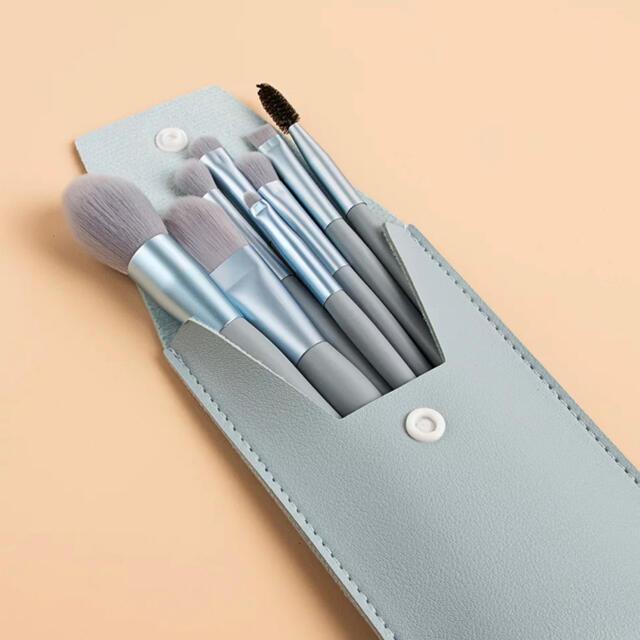 メイクブラシセット 水色 コスメ/美容のメイク道具/ケアグッズ(ブラシ・チップ)の商品写真