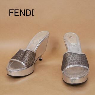 フェンディ(FENDI)のFENDI フェンディ 38 イタリア製 厚底 サンダル(サンダル)