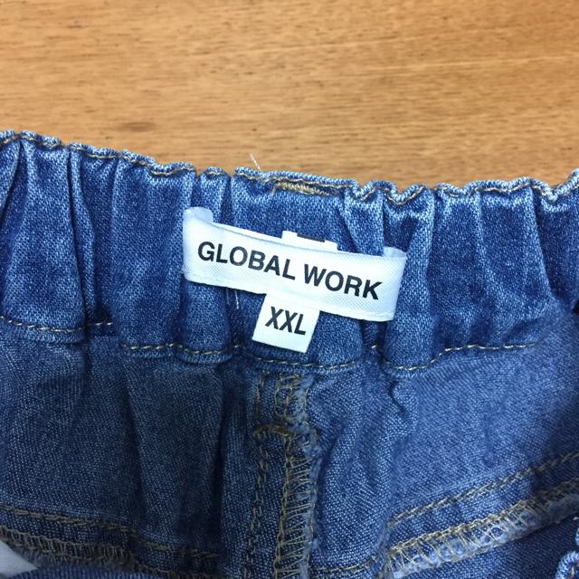 GLOBAL WORK(グローバルワーク)の【グローバルワーク】刺繍デニムショートパンツ(XXL) キッズ/ベビー/マタニティのキッズ服女の子用(90cm~)(パンツ/スパッツ)の商品写真