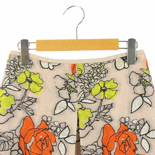 Drawer(ドゥロワー)のドゥロワー Drawer フラワージャカードスカート 36 ピンクベージュ レディースのスカート(ロングスカート)の商品写真