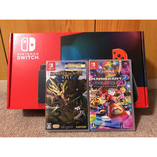 Nintendo Switch - 【新品未開封】ニンテンドースイッチ 本体 モンスターハンターライズ マリオカート