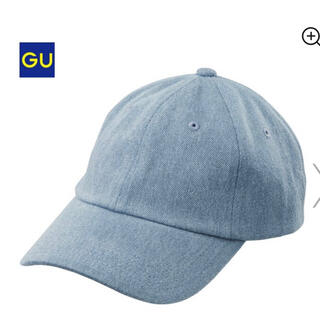ジーユー(GU)のgu ローキャップ 61ブルー デニムキャップ ライトブルー(キャップ)