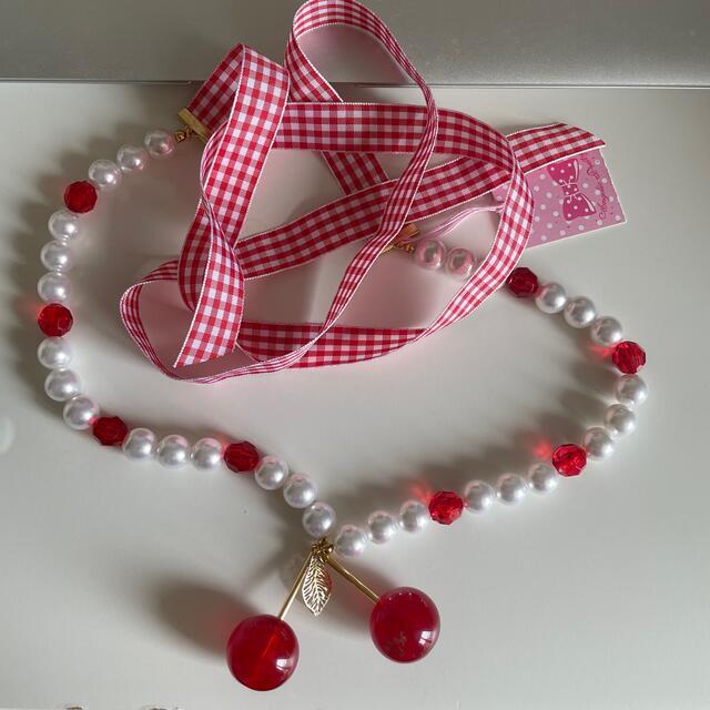 Angelic Pretty(アンジェリックプリティー)のCherry チェリー ネックレス レディースのアクセサリー(ネックレス)の商品写真