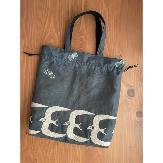 mina perhonen(ミナペルホネン)のgo 巾着バッグ レディースのバッグ(トートバッグ)の商品写真
