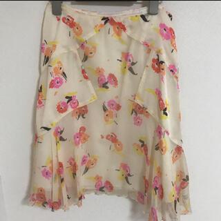 アナスイ(ANNA SUI)のANNA SUI アナスイウィルセレクション 花柄スカート サイズ2(ひざ丈スカート)