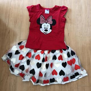 ディズニー(Disney)のミニーマウス Tシャツスカート セットアップ(スカート)