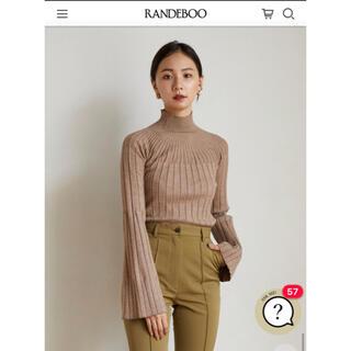 新品未使用 RANDEBOO Flare rib knit  ランデブー