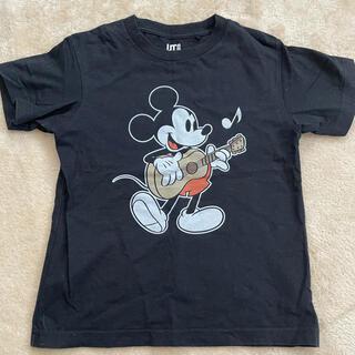 UNIQLO - ユニクロ 120 ミッキー  Tシャツ 黒