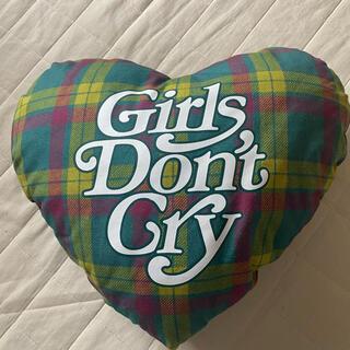ジーディーシー(GDC)のGirls Don't Cry ハートピロー 伊勢丹限定 チェック柄(クッション)