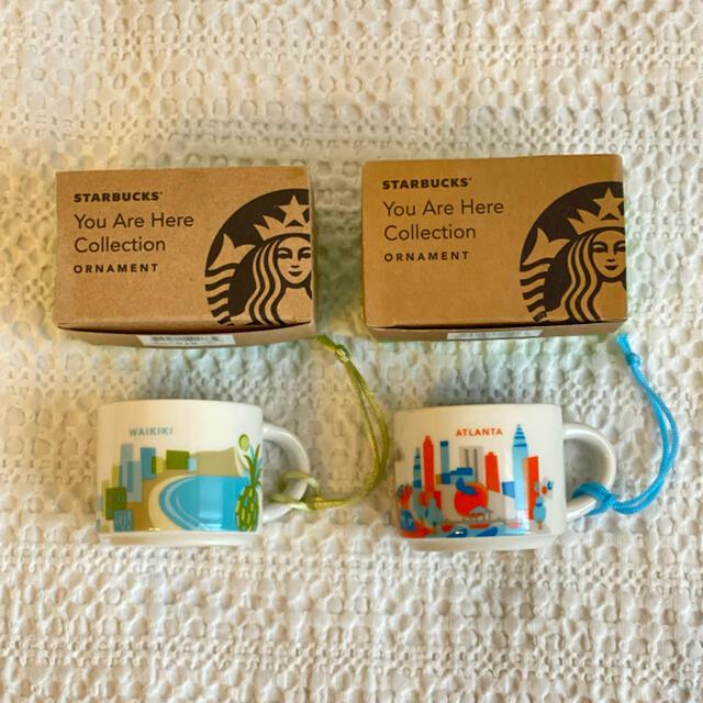 Starbucks Coffee(スターバックスコーヒー)のスターバックス USA オーナメント 2点セット インテリア/住まい/日用品のキッチン/食器(グラス/カップ)の商品写真