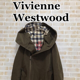 Vivienne Westwood - Vivienne Westwood Man 変形フードブルゾン 裏地ロゴチェック