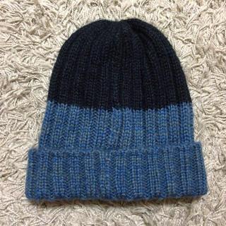 ケービーエフ(KBF)のバイカラー ニット帽(ニット帽/ビーニー)