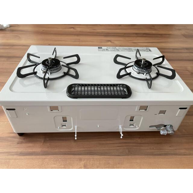 パロマ 二口ガスコンロ プロパン用 未使用品 PA S42H-1R  スマホ/家電/カメラの調理家電(調理機器)の商品写真