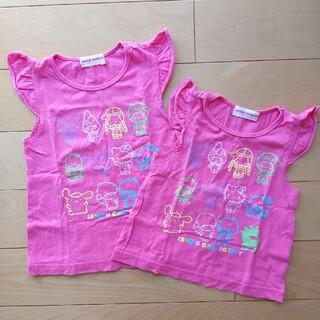 サンリオ(サンリオ)の【サンリオ】80cm&95cm 半袖Tシャツ 2点セット(Tシャツ)